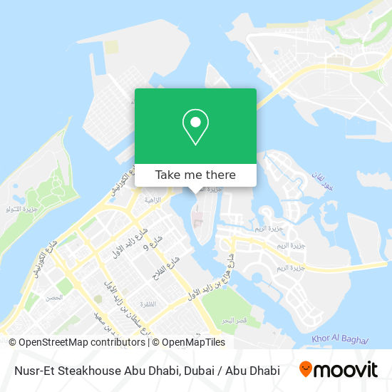 Nusr-Et Steakhouse Abu Dhabi map