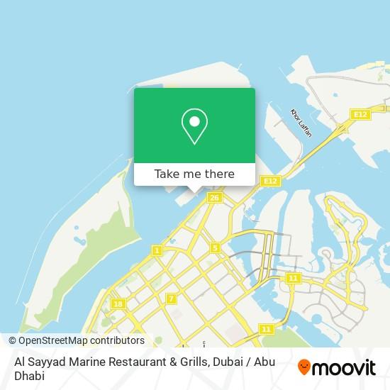 Al Sayyad Marine Restaurant & Grills map