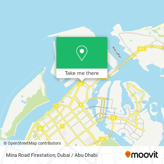 Mina Road Firestation map