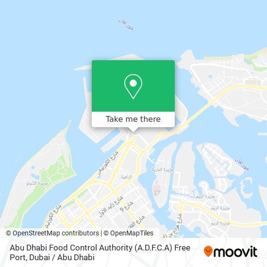 Abu Dhabi Food Control Authority (A.D.F.C.A) Free Port map