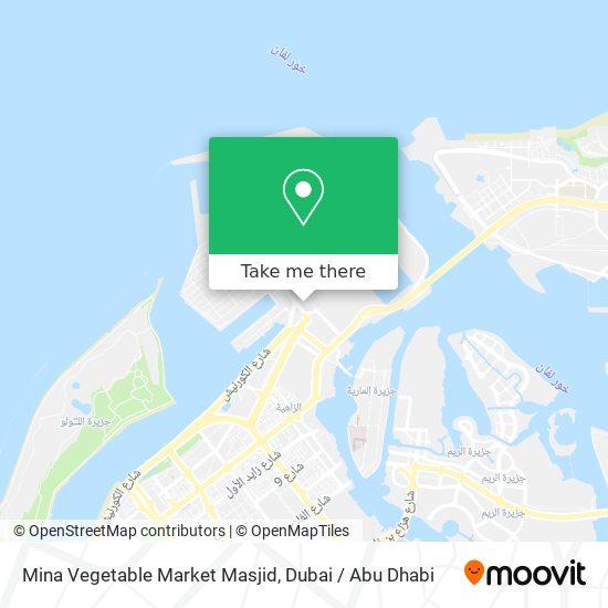 Mina Vegetable Market Masjid map