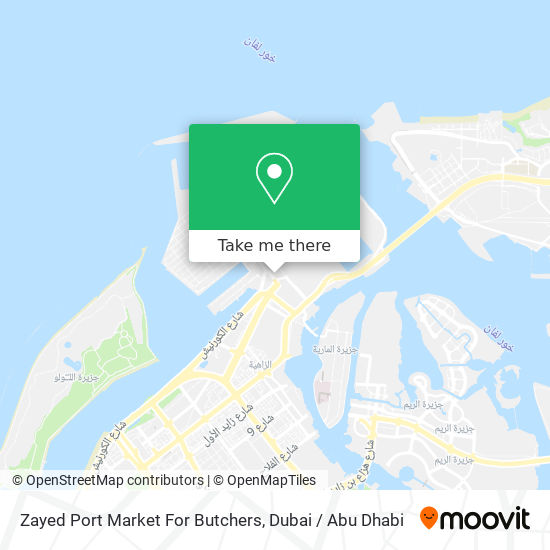 Zayed Port Market For Butchers map