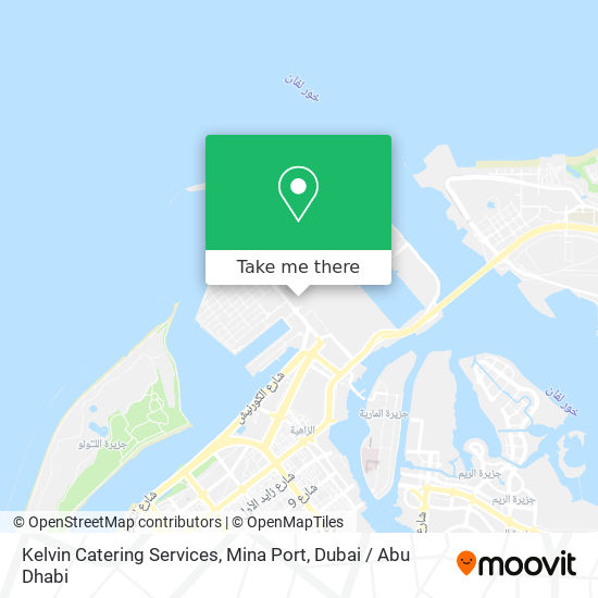 Kelvin Catering Services, Mina Port map