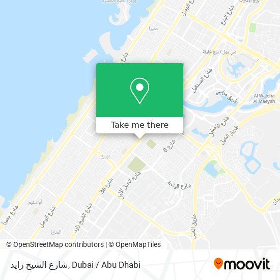 شارع الشيخ زايد map