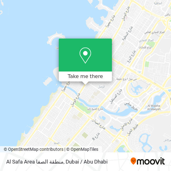 Al Safa Area منطقة الصفا map