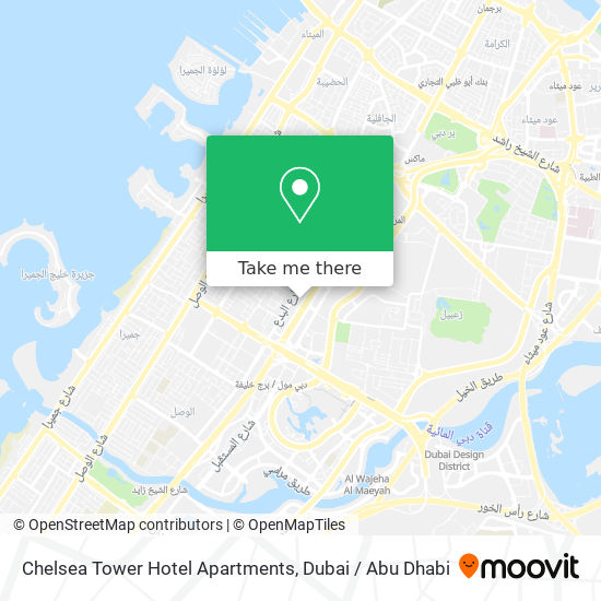 Chelsea Tower Hotel Apartments map