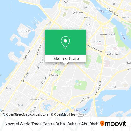 Novotel World Trade Centre Dubai map