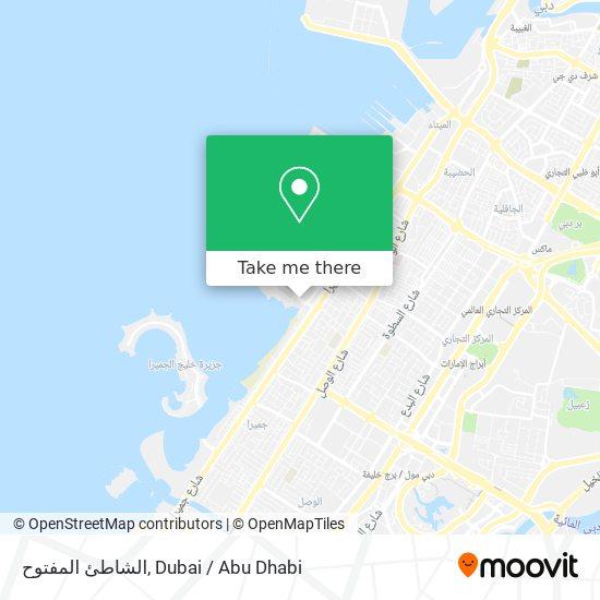 الشاطئ المفتوح map