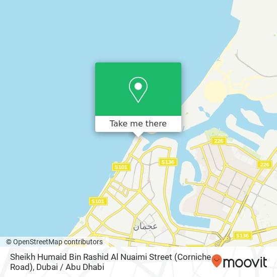 Sheikh Humaid Bin Rashid Al Nuaimi Street (Corniche Road) plan