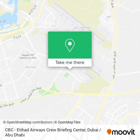 Карта CBC - Etihad Airways Crew Briefing Center