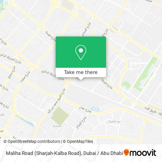 Maliha Road (Sharjah-Kalba Road) Karte