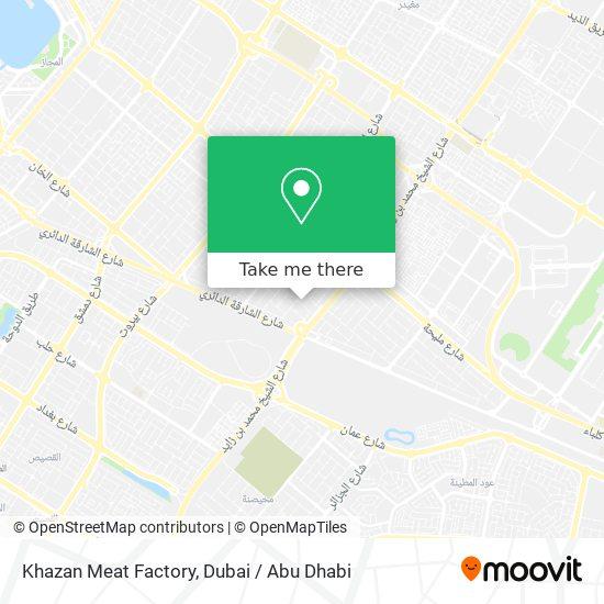 Khazan Meat Factory Karte