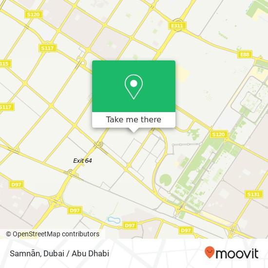 Карта Samnān