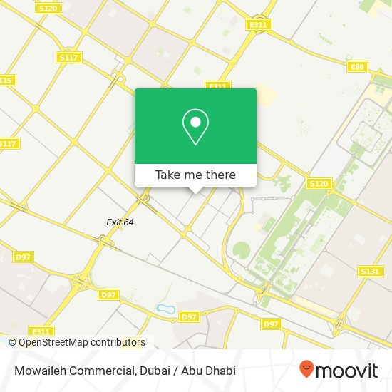 Карта Mowaileh Commercial