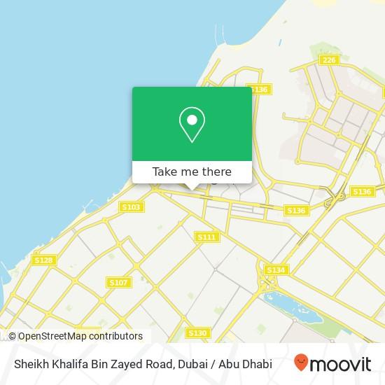 Sheikh Khalifa Bin Zayed Road Karte