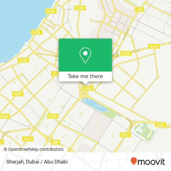 Sharjah map