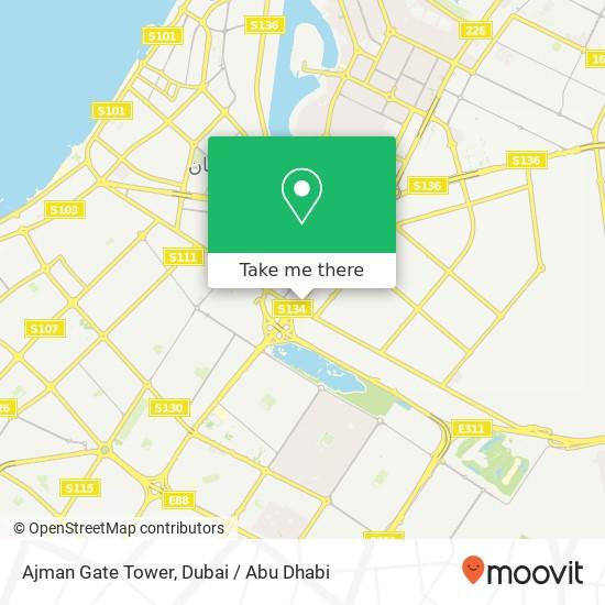 Ajman Gate Tower Karte
