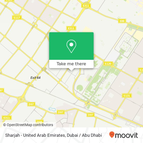 Sharjah - United Arab Emirates map