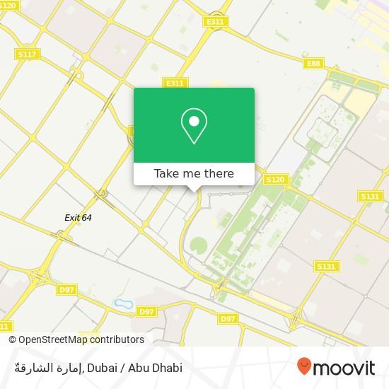 Карта إمارة الشارقةّ