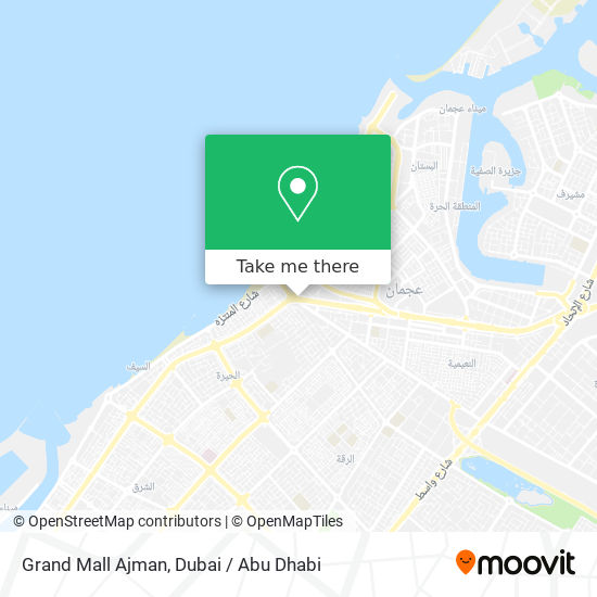 Grand Mall Ajman map