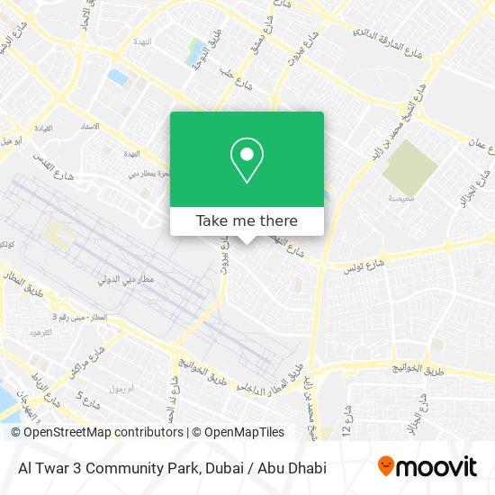 Al Twar 3 Community Park map
