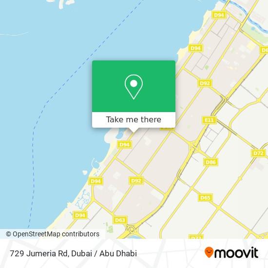 729 Jumeria Rd map