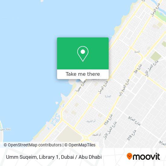 Umm Suqeim, Library 1 map