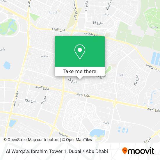 Al Warqa'a, Ibrahim Tower 1 map