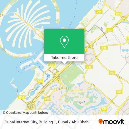 Dubai Internet City, Building 1 map