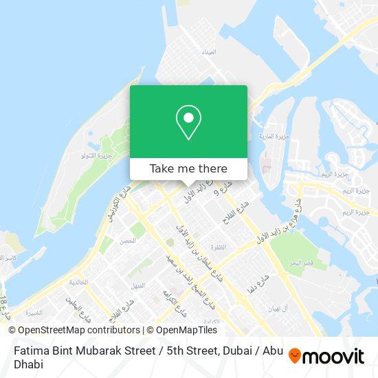 Fatima Bint Mubarak Street / 5th Street map