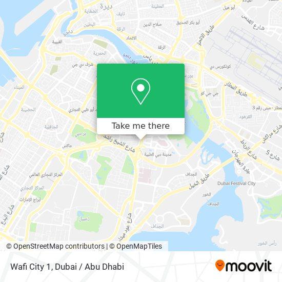 Wafi City 1 map