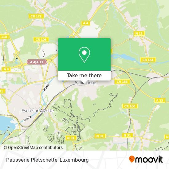 Patisserie Pletschette map