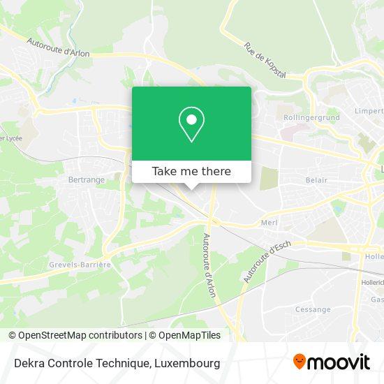 Dekra Controle Technique map