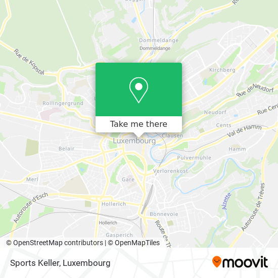 Sports Keller map