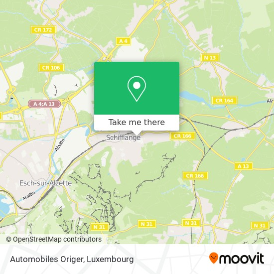 Automobiles Origer map