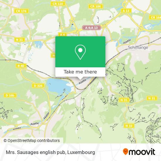 Mrs. Sausages english pub map