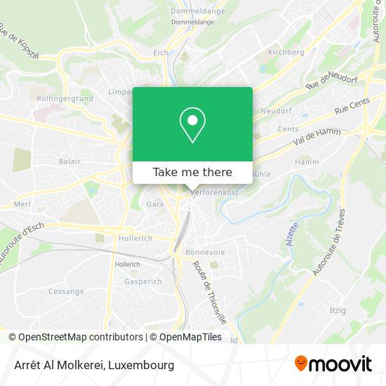 Arrêt Al Molkerei map