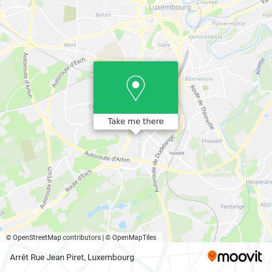 Arrêt Rue Jean Piret map