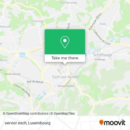 servior esch map