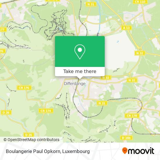 Boulangerie Paul Opkorn map