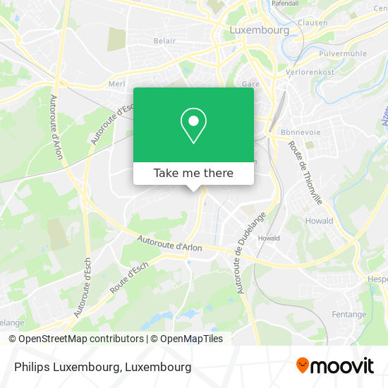 Philips Luxembourg map