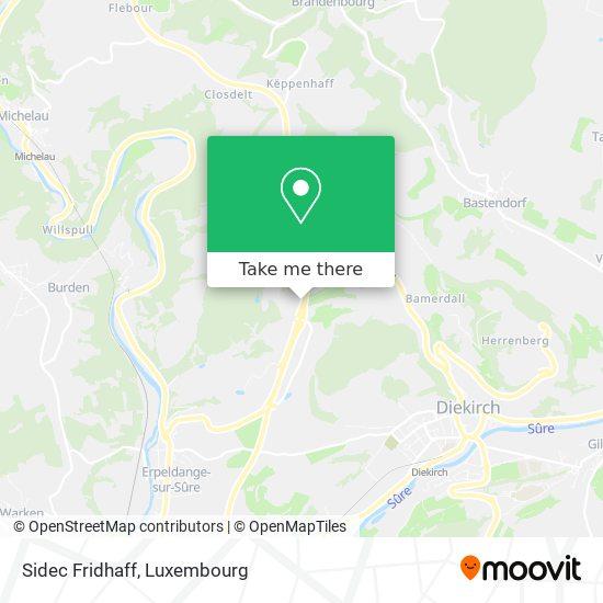 Sidec Fridhaff map