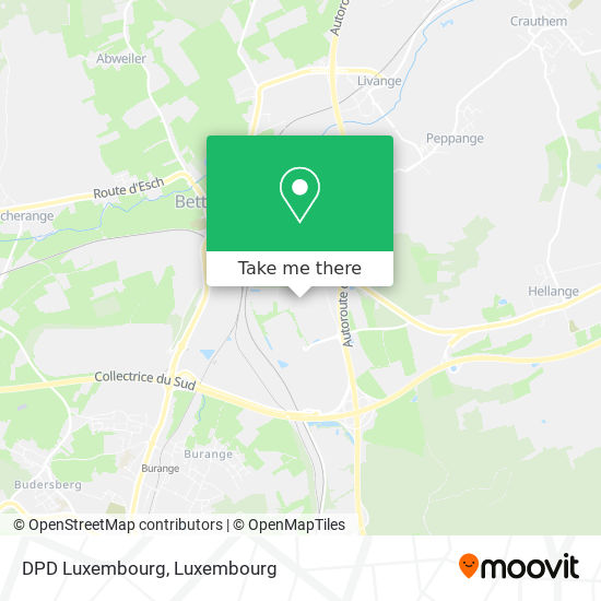 DPD Luxembourg map