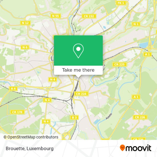 Brouette map