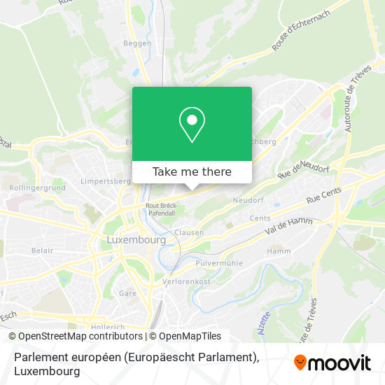 Parlement européen (Europäescht Parlament) map