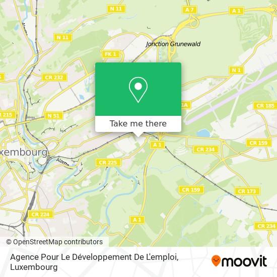 Agence Pour Le Développement De L'emploi map