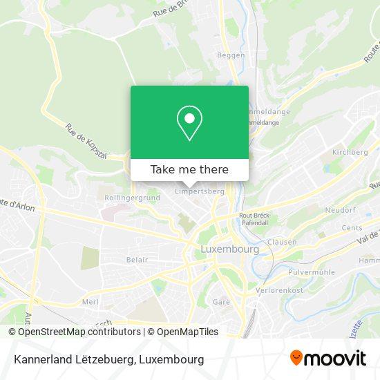Kannerland Lëtzebuerg map