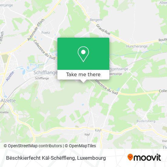 Bëschkierfecht Käl-Schëffleng map