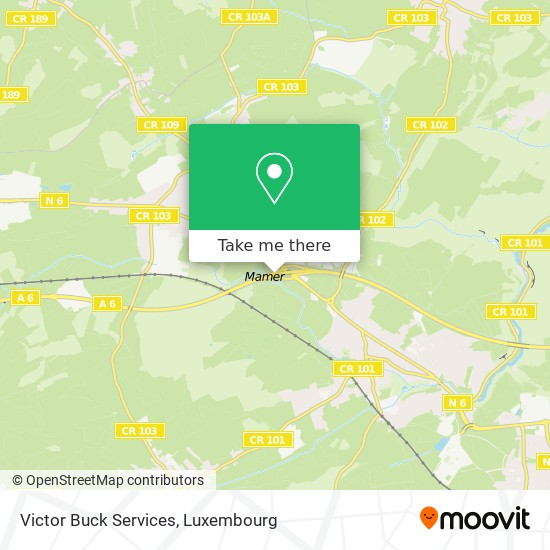 Victor Buck Services map