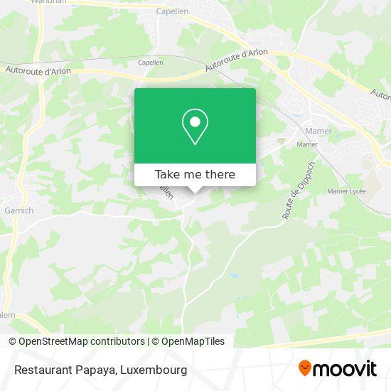 Restaurant Papaya map